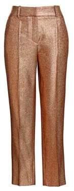 Roberto Cavalli Women's Lurex Fitted Blazer - Gold - Size 38 (2)