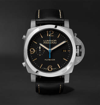 Panerai Officine Luminor 1950 3 Days Chrono Flyback Automatic Acciaio 44mm Stainless Steel And Leather Watch
