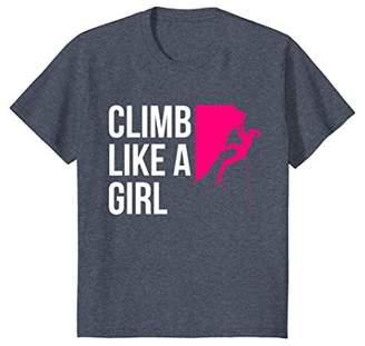 Climb Like A Girl Women's Rock Climbing T Shirt