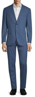 Corneliani Plaid Wool Suit