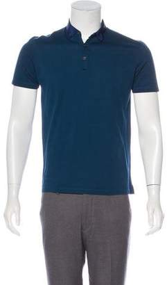 Lanvin Jersey Short Sleeve Polo
