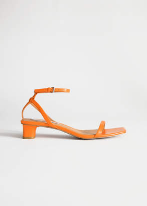 And other stories Square Toe Kitten Heel Sandals
