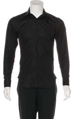 Christian Dior Strap Collar Button-Up Shirt