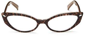Corinne McCormack Leopard Print Cat Eye Readers, 52mm