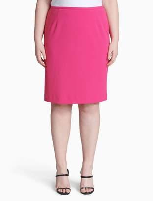 Calvin Klein plus size scuba pencil skirt