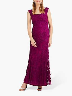 Phase Eight Collection 8 Abbie Lace Maxi Dress, Magenta