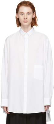 Yohji Yamamoto White Back Side Fold Shirt