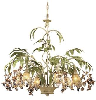 Beachcrest Home Evelyne 6-Light Crystal Chandelier