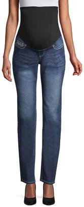 LOVE INDIGO Love Indigo Over Belly Jeans - Maternity