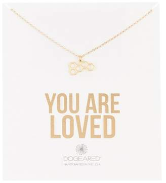Dogeared You Are Loved Honeycomb Pendant Necklace