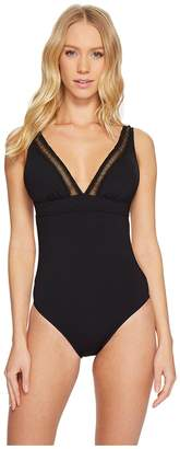 Seafolly Wild At Heart V-Neck Maillot Women's Swimsuits One Piece