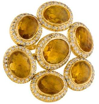 Ring 14K Citrine & Diamond Flexible