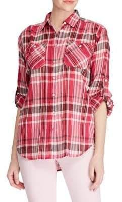 Lauren Ralph Lauren Plaid Button-Down Shirt