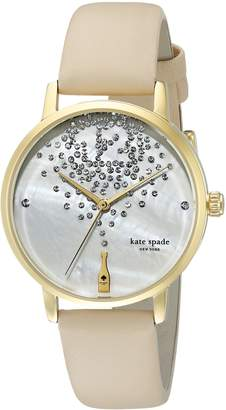 Kate Spade Women's KSW1015 Metro Watch With Beige Leather Band
