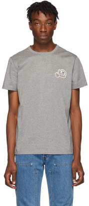 Moncler Grey Logo Patches T-Shirt