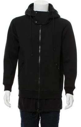 Givenchy Double-Layer Zip-Up Hoodie