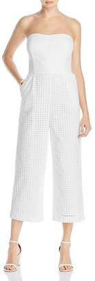 Laundry by Shelli Segal Strapless Eyelet Jumpsuit $168 thestylecure.com