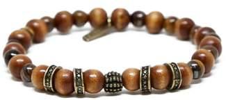 Ettika Mr. Wood & Brass Bead Bracelet
