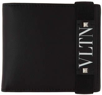 Valentino Black Garavani VLTN Bifold Wallet