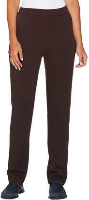 Denim & Co. Active _Petite Slim_Leg Full Length Pant w/ Pockets