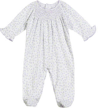Kissy Kissy Rambling Roses Smocked Footie Playsuit, Size Newborn-9M