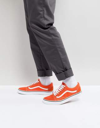 Vans Old Skool Sneakers In Orange VA38G12W1