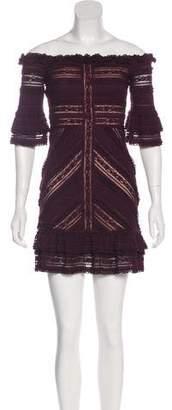 Cinq à Sept Off-The-Shoulder Lace Dress