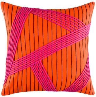 Kas Esha Orange Square Cushion