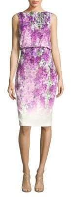 Badgley Mischka Printed Sleeveless Dress