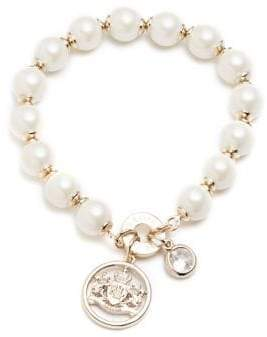 Ralph Lauren Faux Pearl Crest Bracelet