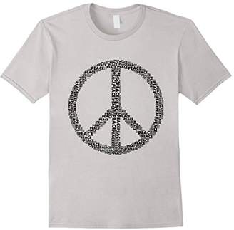 Peace Word Art Peace Sign t-shirt