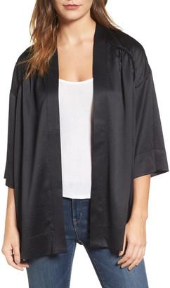 Hinge Satin Kimono Jacket $69 thestylecure.com