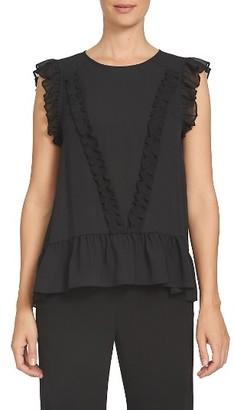 Women's Cece Ruffled Cap Sleeve Blouse $79 thestylecure.com