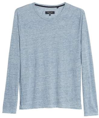 Rag & Bone Owen Linen Long Sleeve T-Shirt