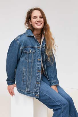 BDG Lexi Flannel Lined Denim Trucker Jacket