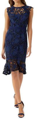 Lipsy Navy Lace Midi Dress