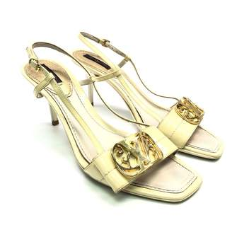 Louis Vuitton Beige Patent leather Mules & Clogs