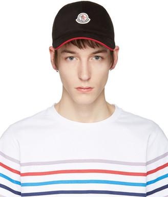 Moncler Black Logo Cap $110 thestylecure.com