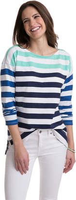Vineyard Vines Combo Stripe Boatneck Top