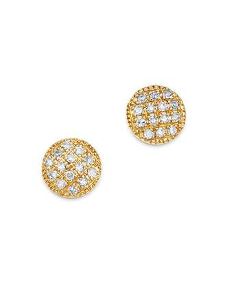 Moon & Meadow Diamond Circle Stud Earrings in 14K Yellow Gold, 0.08 ct. t.w. - 100% Exclusive