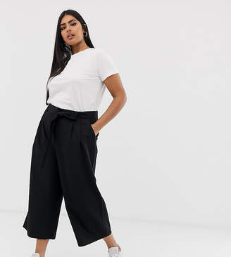 Asos DESIGN Curve mix & match culotte with tie waist