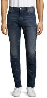 Maison Margiela Men's Washed Distressed Jeans