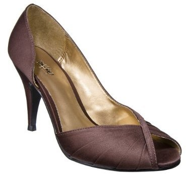 Women's Mossimo® Ione Peep-Toe Dress Shoes - Brown