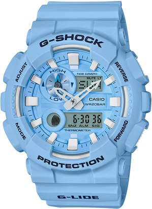 G-Shock Men's Analog-Digital Light Blue Resin Strap Watch 51.2mm