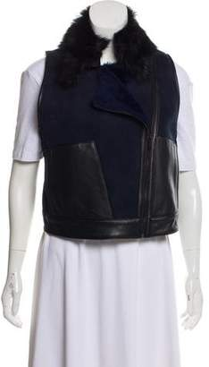 Ohne Titel Leather-Accented Suede Vest