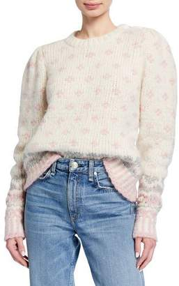 LoveShackFancy Rosie Heart & Snowflake Chunky-Knit Sweater