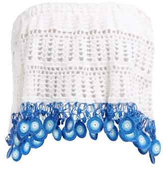 My Beachy Side - Thalia Strapless Crochet Top - Womens - White Multi