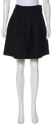 Elizabeth and James Wool Flared Skirt