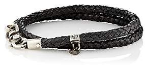 Title of Work Men's Double-Wrap Bracelet-Silver