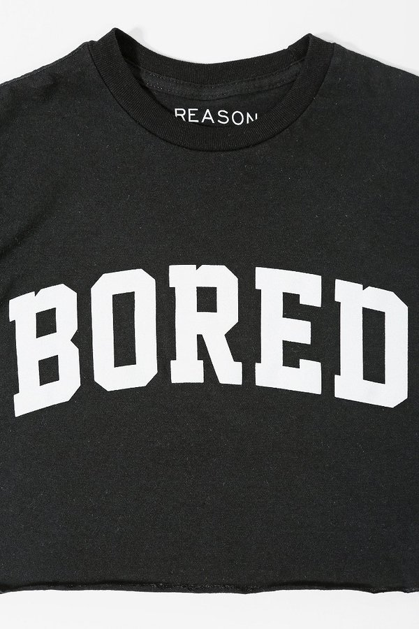 Urban Outfitters Reason Bored Cropped Tee
